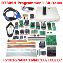 RT809H Universal EMMC Nand FLASH Programmer +30 Adapters +TSOP48 Adapter +TSOP56 Adapter +SOP8 Test Clip WITH CABELS Free Ship