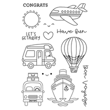 Car/aircraft/ship Transparent Clear Silicone Stamp/Seal for DIY scrapbooking/photo album Decorative clear stamp