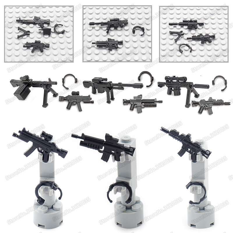 Legoinglys Modern Military Hot Weapons Diy Figures Building Blocks Army Special Forces Soldier Equipment Moc Child Christmas Toy