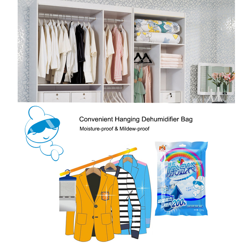 Hanging Moisture Absorbers Bag Moisture-proof Mould-proof Room Dehumidifier Bag Deodorizing Desiccant Scented Moisture Absorber