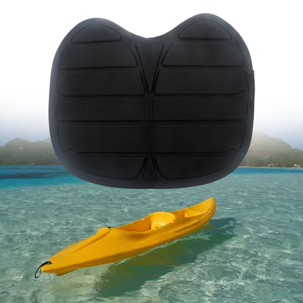 Antiskid Kayak Seat Universal Waterproof Outdoor Fishing Cushion Pillow Accessories Detachable Durable Base Boat Padded Black