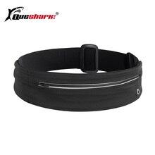 Black Adjustable Running Waist Bag Ultralight Waistband Sport Bag Zipper Fitness Yoga Waist Belt Pack Phone Invisible Wallet