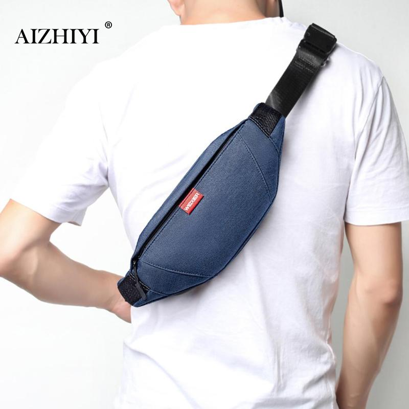 Waist Bag Men Waist Pack Leather Chest Bags Fanny Pack Phone Bag Pouch Bolosa Men Zipper Chest Phone Pack Sport Crossbody Bags