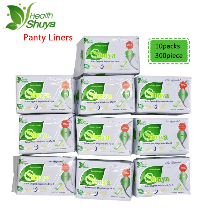 10packs Shuya Anion Santitary Napkin Menstrual Pads Panty Liners for daily use Women Health Care Anion Pads Sanitary Towel