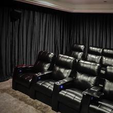 Birkin Pinch Pleat Velvet Curtain Home Movie Theater Drape Custom Panel, Solid 36 Colors (1 Panel) For Track Traverse Rod