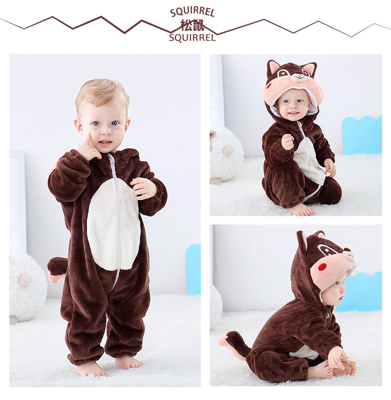 H90ac1357fc454cd4b6d75eb59c27b33dS 2019 Infant Romper Baby Boys Girls Jumpsuit New born Bebe Clothing Hooded Toddler Baby Clothes Cute Panda Romper Baby Costumes