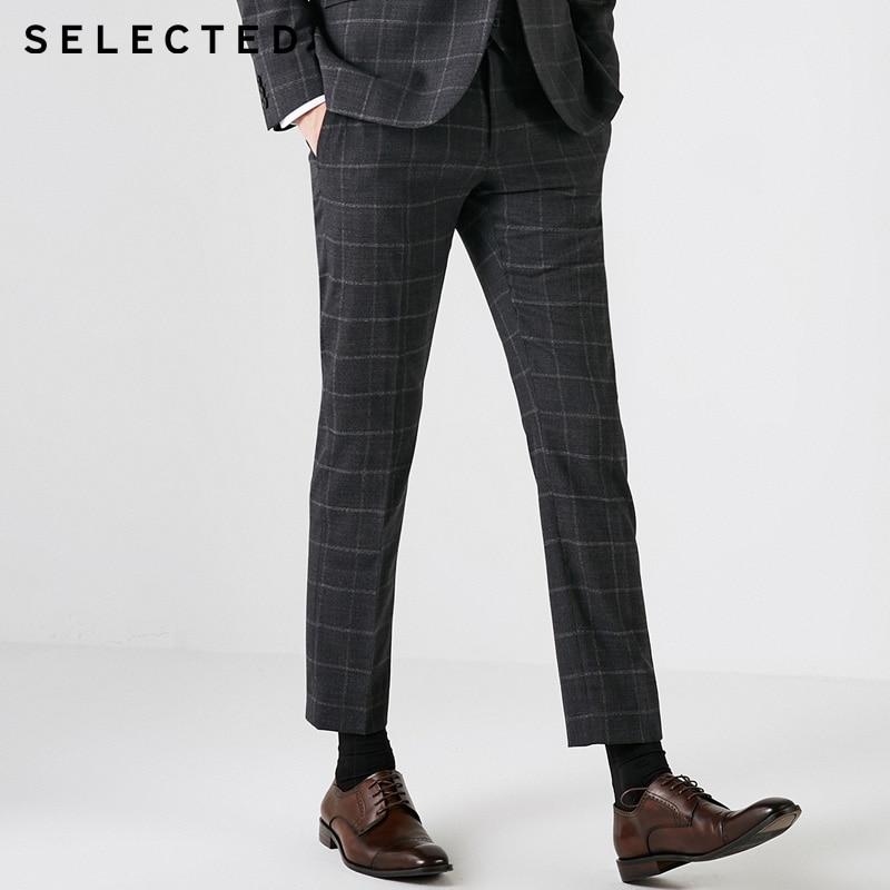 SELECTED Men's Business Leisure Wool Pants Trousers   41838Y501