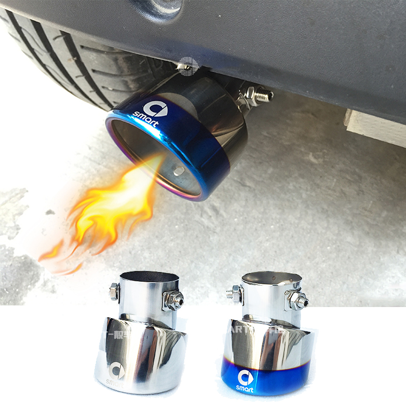 For Smart 453 fortwo forfour 2015-2019 Car Auto Round Exhaust Muffler Tip Stainless Steel Car Rear Tail Throat Liner Exhause