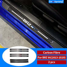 Fibra de carbono soleira da porta scuff placa guardas trd sti porta soleiras protetor guarnição adesivos de carro para subaru brz toyota 86 2013-2020