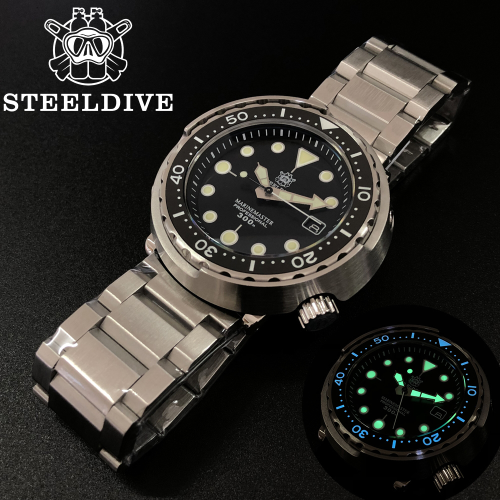 1975 First Canned Tuna Dive Watch Re-engraved Automatic Watch Of Man Mechanical Watch NH35 300M Diver Watches Sapphire Crystal image