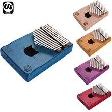 Thumb-Piano Kalimba Tuning-Hammer Mbira Wood-Finger-Piano Musical MINI 17-Key with Carry-Bag