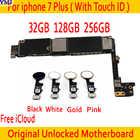 32 Гб 128 ГБ 256 ГБ для iphone 7 plus материнская плата с Touch ID/без Touch ID,100% оригинальные разблокированные для iphone 7P Logic boards