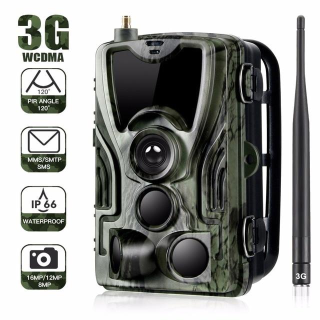 3G MMS Trail camera 0.3s Trigger Hunting camera 940nm IR LED photo traps 16mp 1080p HD night vision scout animal camera HC-801G 1