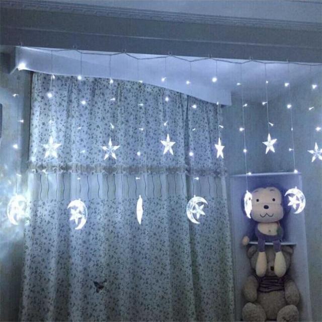 25 М звездный лунный занавес Гирлянда для дома гостиницы спальни