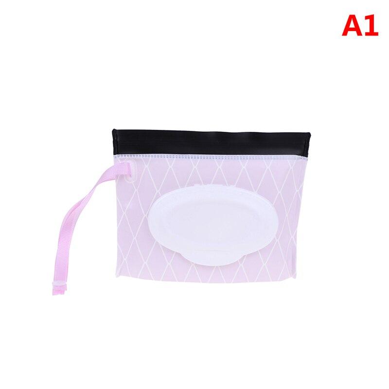 Экологичная коробка для детских салфеток, коробка для влажных салфеток, очищающая сумка для переноски, раскладушка, защелкивающийся ремешок, чехол-контейнер для салфеток, Сменные аксессуары - Цвет: 1
