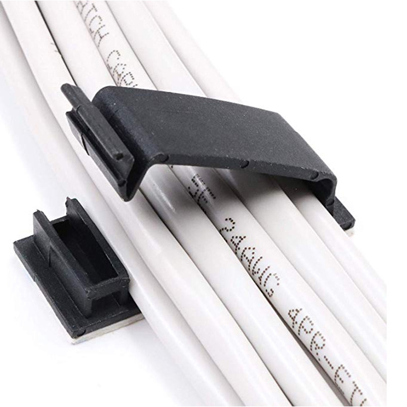 50/100pcs <font><b>Cable</b></font> Holder Cord Management Desk Wire Tie Fixer <font><b>Adhesive</b></font> <font><b>Car</b></font> <font><b>Cable</b></font> <font><b>Organizer</b></font> <font><b>Clips</b></font> <font><b>Cable</b></font> Winder Drop image