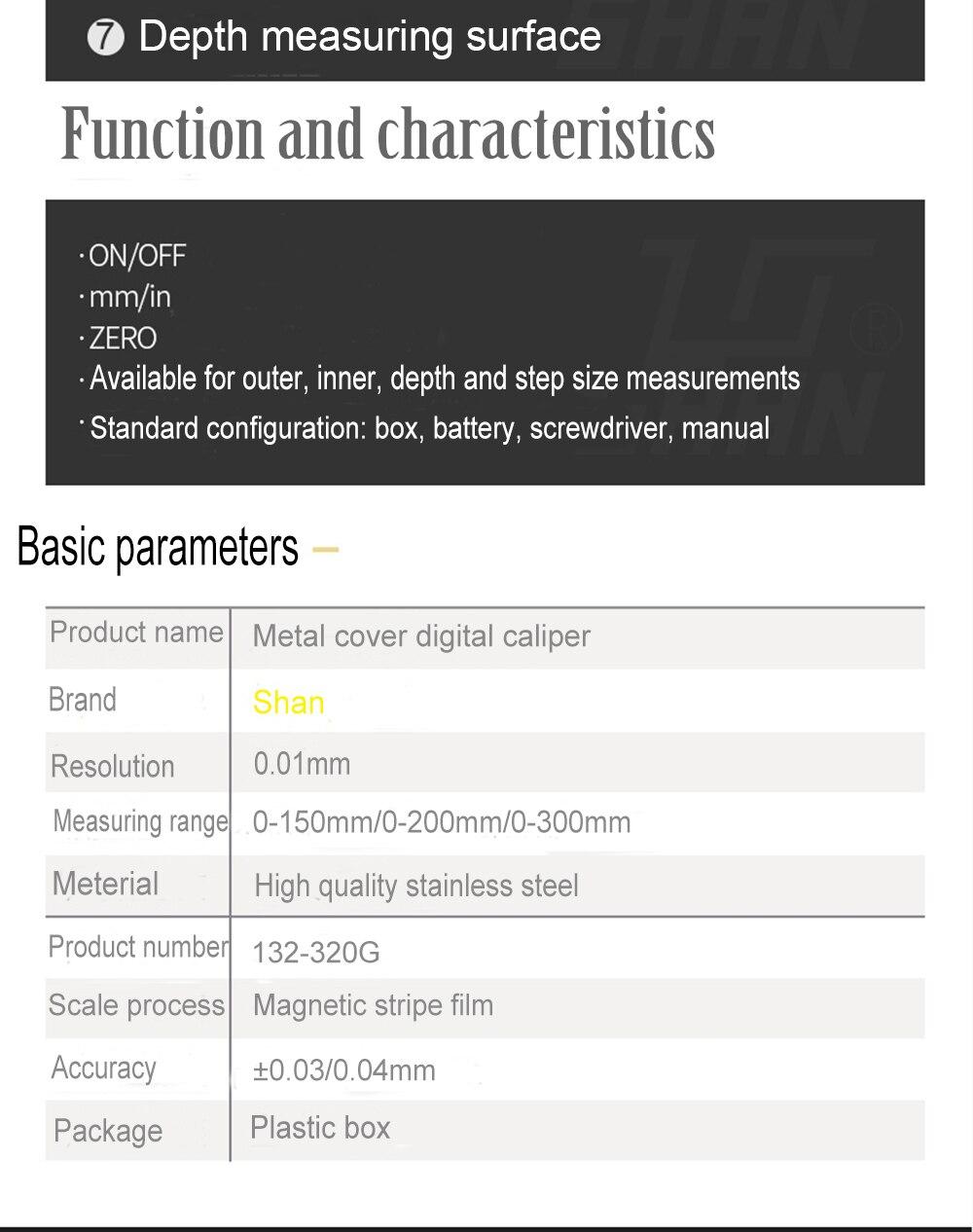 elevada precisão de 0-200mm 0.01mm de digitas vernier