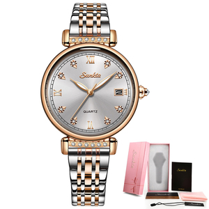 Image 5 - SUNKTA New Rose Gold Women Watches Business Quartz Watch Ladies Top Brand Luxury Female Wrist Watch Girl Clocks Relogio Feminin