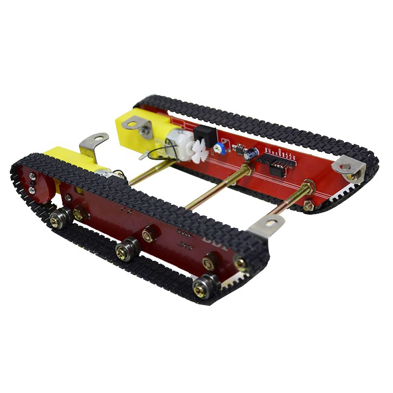 FBIL-Smart Robot Tank Car Chasis Kits Caterpillar Crawler Chassis Track Integrated Motor Dd1-1 for Ard