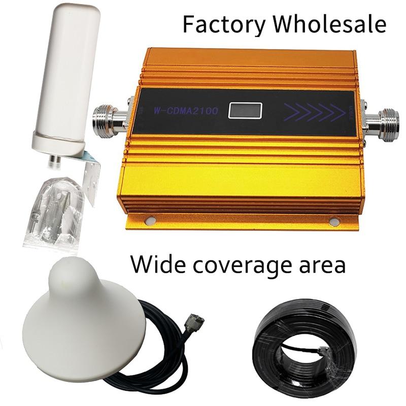 Superventas (banda LTE 1) potenciador de señal móvil HSPA WCDMA 2100MHz 3G UMTS repetidor celular ganancia amplificador Kit de antena