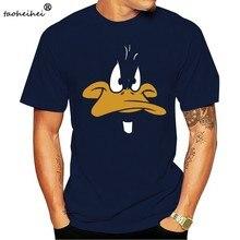 T-Shirt grand visage en canard Daffy pour homme Looney airs