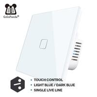 Interruptor de luz automático, panel controlador de iluminación, táctil, para el hogar, interior y exterior, EU 1 2 3 Gang 2