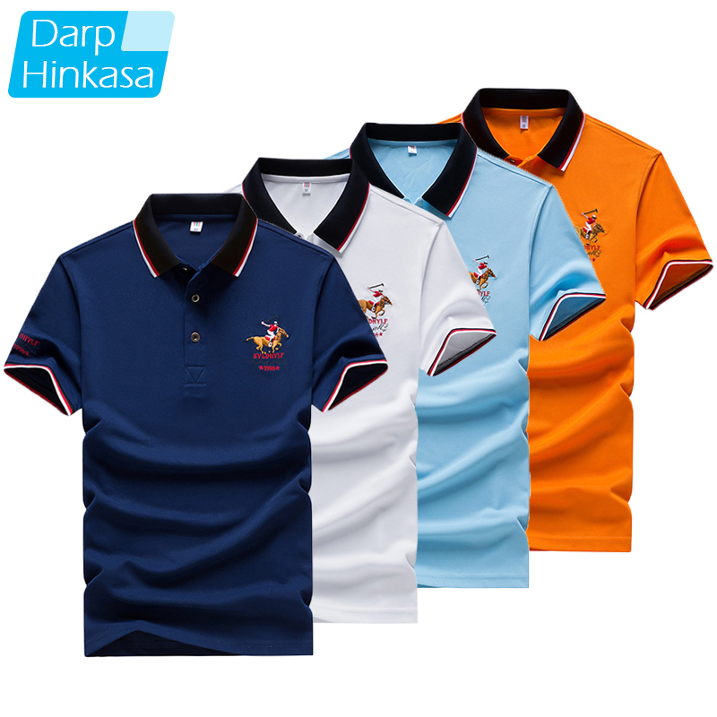 DARPHINKASA2020 Summer New Men Polo Shirt Embroidery Polo Shirt Men Casual Polo Shirt Solid Color Men Short Sleeve 1