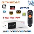 GTC Android 6 0 ТВ коробка DVB-S2/T2/кабель/ISDBT Amlogic S905D 2 Гб Оперативная память 16 ГБ + 1 год Бесплатная CCcam для Европы Поддержка IPTV Set-top BOX