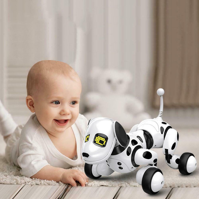 RC Robot Dog Toy Sing Dance Intelligent Electronic Pet Toy Interactive Smart Talking Toy Led Cute Animals Children Birthday Gift