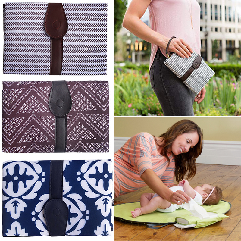 Waterproof Baby Changing Mat Changing Pad Travel Multifunction Portable Baby Diaper Cover Mat Clean Hand Folding Diaper Bag