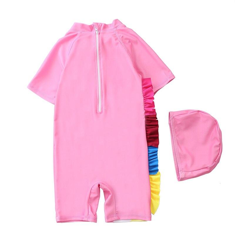 New Baby Swimsuit Women's Yi Bo Du Children One-piece Swimwear GIRL'S Girls Baby Large Children BABY'S Bathing Suit