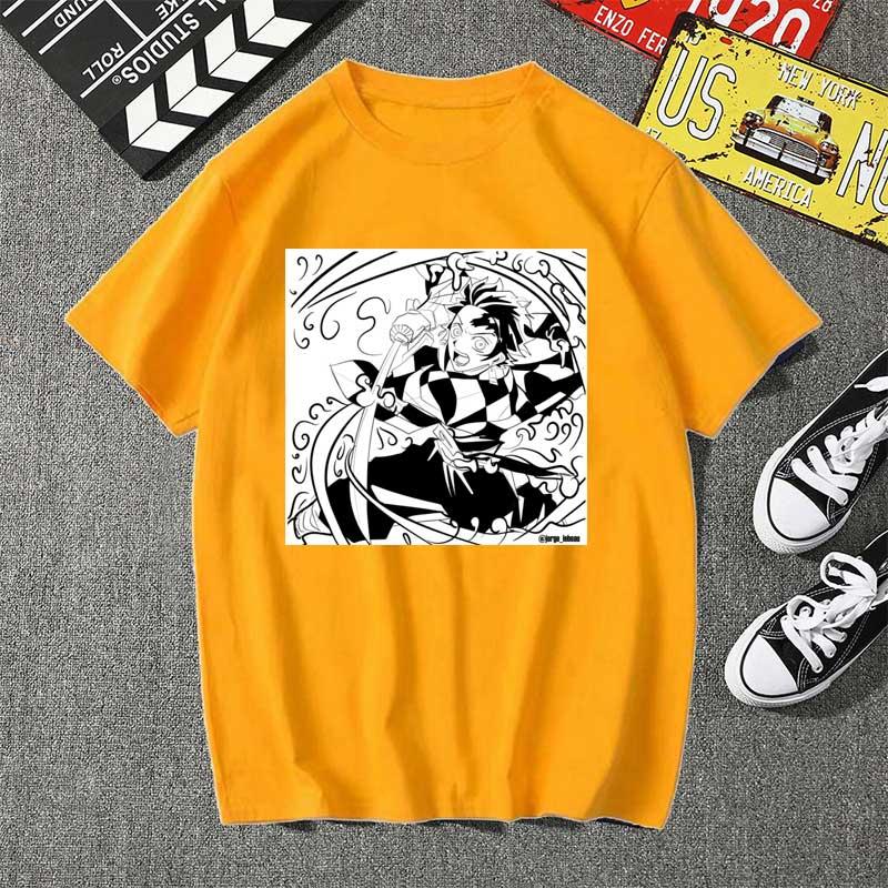 Kimetsu no yaiba kamado tanjiro из футболки мужские kawaii Топы