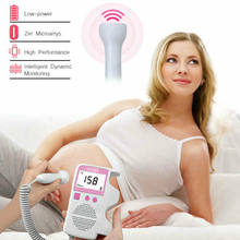 Ultrasonic Detector Fetal Doppler Prenatal Baby Heart Rate Heartbeat Monitor 3Mhz Backlit LCD(China)