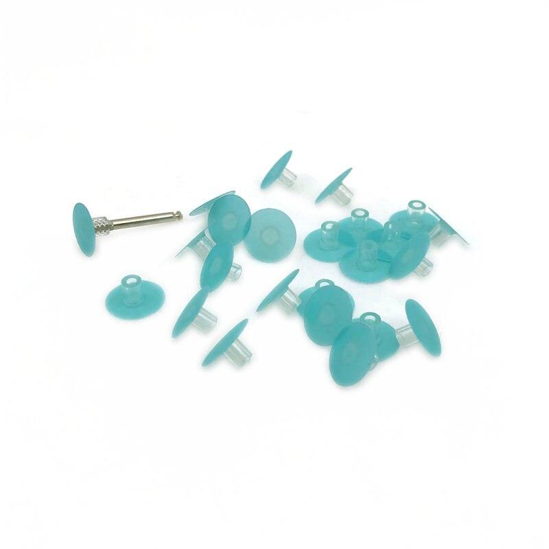 20pcs Dental Polishing Stem Discs Composite Fine With 1pc Mandrel