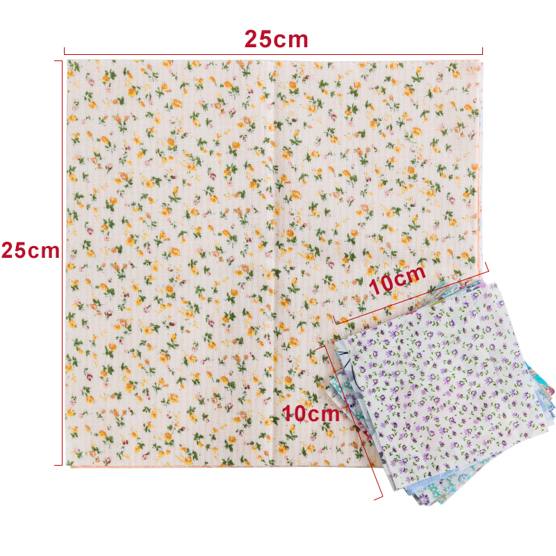 H90ae82f4d12040fca4f81be170074e24G 25x25cm and 10x10cm Cotton Fabric Printed Cloth Sewing Quilting Fabrics for Patchwork Needlework DIY Handmade Accessories T7866
