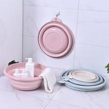 Портативный пластиковый складной умывальник прочный экологичный Непрозрачный умывальник пластиковое ведро для наружного кемпинга кухни ванной комнаты