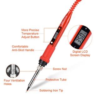 Image 4 - JCD soldador 220V, 110V, 80W, temperatura ajustable, puntas de kit de pistola para soldar LCD, ESD, aislante, estera de trabajo, estación de soldadura
