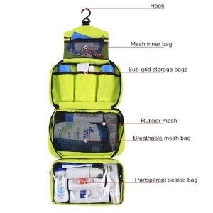 Image 3 - 旅行化粧品袋の男性洗浄シェービングバッグ防水女性トイレタリー収納大容量化粧台オーガナイザートイレバッグメイクキット