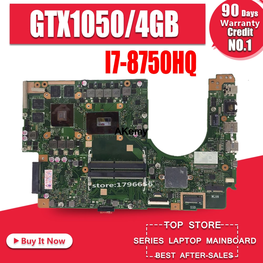 For ASUS VivoBook Pro 15 X580G X580GD Laptop Motherboard Mianboard With/ GTX1050/4GB I7-8750HQ