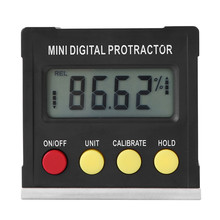 mini digital protractor inclinometer Horizontal Angle Meter Inclinometer Electronic Level Box Magnetic Base Measuring Tools