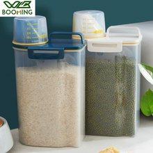 WBBOOMING 2500ml çift sızdırmazlık halkası pirinç fasulye depolama kavanoz buzdolabı gıda koruma kabı plastik mutfak saklama kutusu