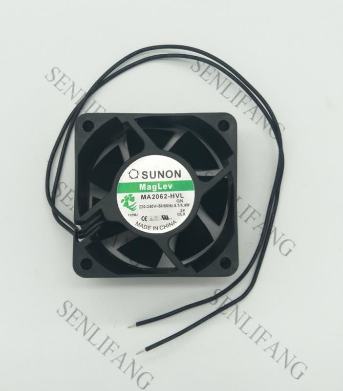Free Shipping NEW For SUNON MA2062-HVL .GN 6CM High Air Volume 6025 AC220V Cooling Fan