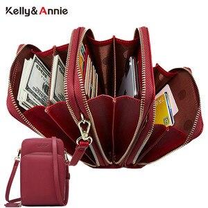 Image 1 - 3 kat büyük kapasiteli cep telefonu omuzdan askili çanta kadın iki zincir çanta kadın Mini çapraz postacı çantası küçük Tote çanta