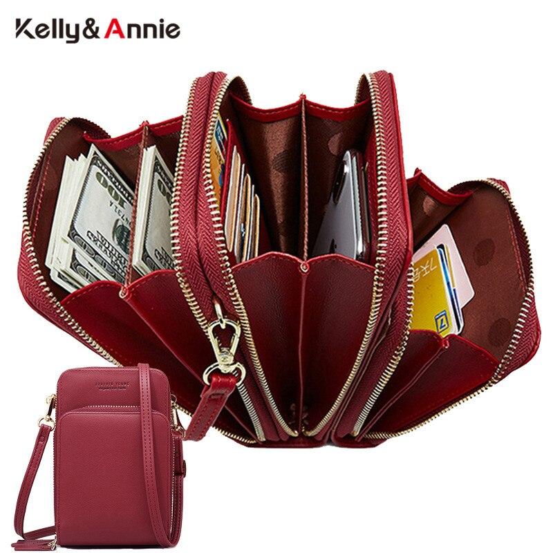 3 слойная вместительная сумка через плечо для сотового телефона, женская сумка с двумя цепочками, Женская мини сумка через плечо, маленький вместительный кошелек|Сумки с ручками|   | АлиЭкспресс