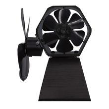Новое высокое качество 4 лезвия Термальность Мощность вентилятор для камина тепла Мощность ed дровяной печи вентилятор для помещений