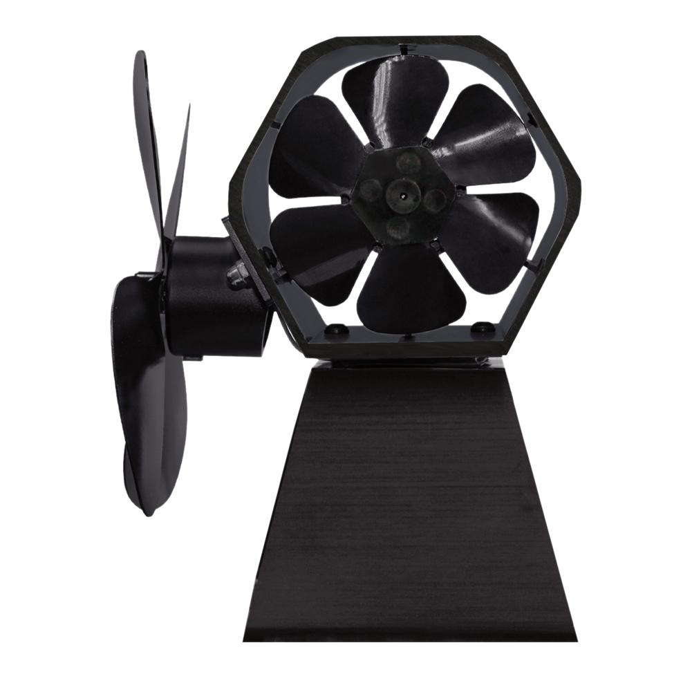 New High Quality 4 Blade Thermal Power Fireplace Fan Heat Powered Wood Stove Fan For Indoor