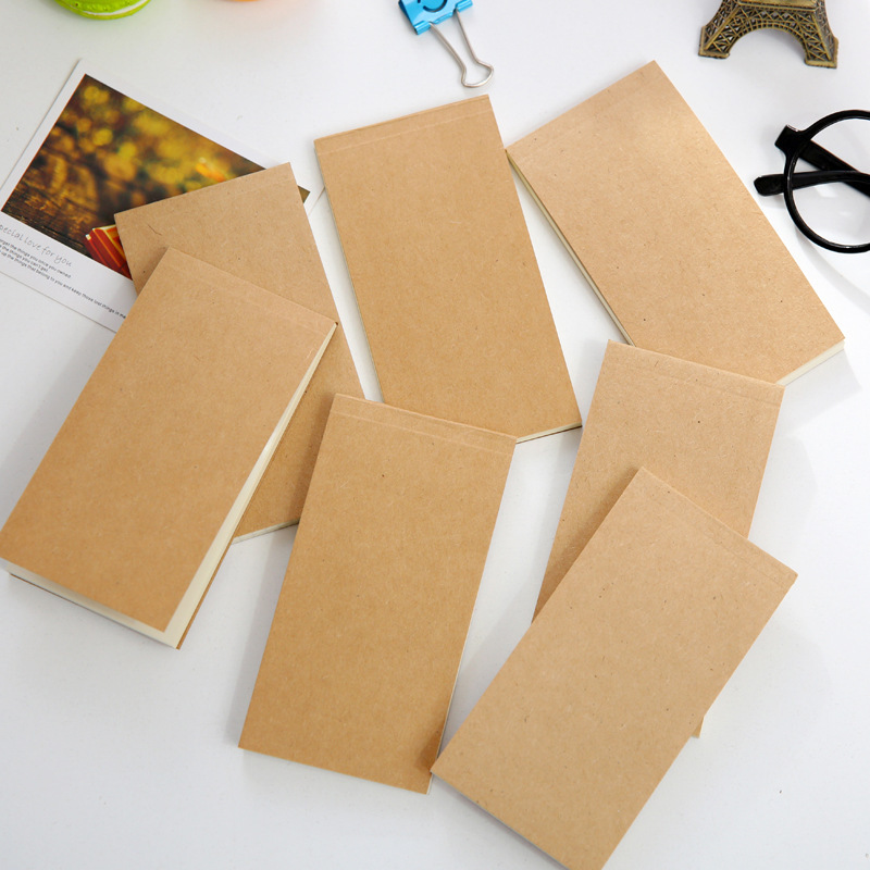 Creative Simple Kraft Paper Note Book Can Tear Plan Book Notepad Pocket Size 89x140 Mm Office School Student Stationery Painting