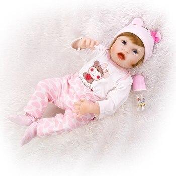Muñeca de silicona especial DOLLMAI 55CM 22 pulgadas bebé niña Reborn muñecas arte boutique Reborn bebés muñeca niño o niña con ropa de bebé