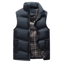 Mens Sleeveless Jacket New Fashion Thicken Cotton Vest Autumn Warm Vest Winter Male Waistcoats Men Casual Windbreakers