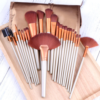 24pcs Professional Makeup Brushes Set With Bag Powder Foundation Eyeshadow Blending makeup Brush Beauty Tool High Quality цена 2017
